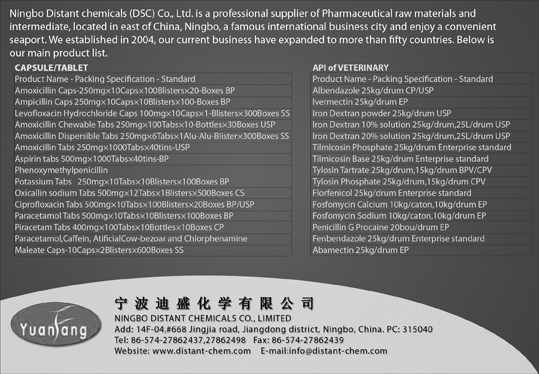 Ningbo Distant Chemicals Co.,ltd